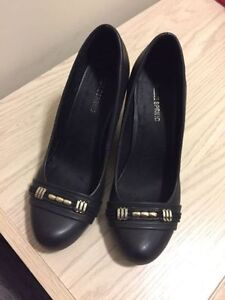 Black wedge shoes New, never worn $ 35