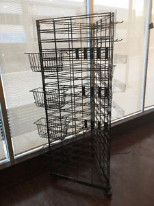 3- Sided Metal Display Stand on wheels