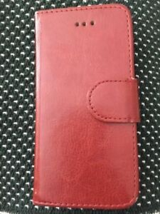 Iphone 5,5S or SE Brown Leather wallet/case Like new Great vinta