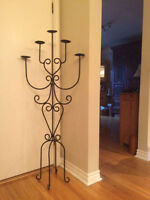 Chandelier sur pieds en fer forgé - Wrought iron Chandelier