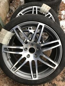 "Two Audi 21"" wheels"
