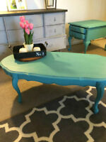 Stunning Refinished Antique French Provincial Side Table!