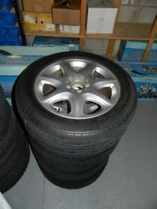 OEM MERCEDES BENZ W220 S CLASS ALLOY RIMS + TIRES 225 55 17