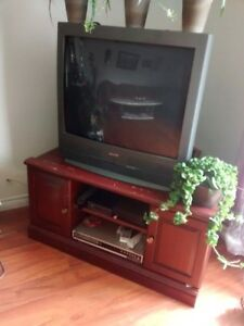 URGENT! free tv and tv stand (huge) need gone asap