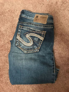 Silver and guess jeans size