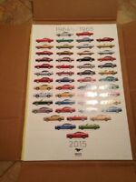 50th anniversary FORD MUSTANG poster and cards