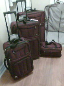 7 pieces of gently used luggage