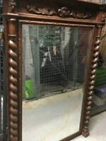 ANTIQUE MAHOGANY WOOD Mirror - PICK UP TODAY!!!