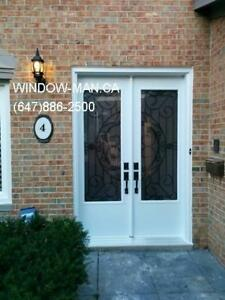 Front Wrought 96inches Iron Double Door 8foot  talk to PRO