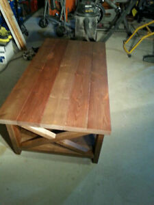 Handcrafted living room table