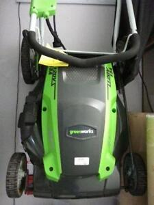 Green works lawn mower. We sell used goods. 112857