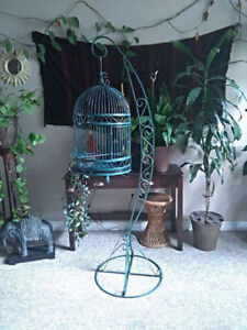 Handmade Decorative Bird Cage with Stand