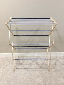 Collapsible / Accordion Wood Clothes Drying Rack