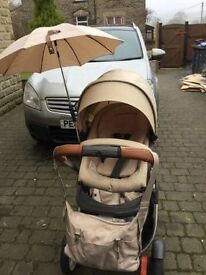 Stokke crusi double pram With Extras