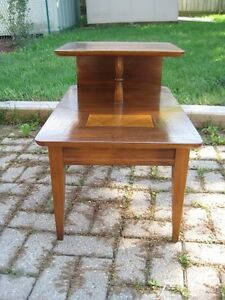 2 Tier Retro Walnut Side Table