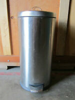 "78. Large Stainless Steel Garbage Can: 25""Hx12""D: $20obo."