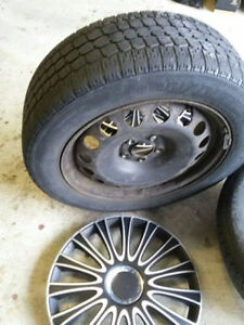 winter tire with steely rims