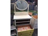 DRESSING TABLE WITH MIRROR SHABBY CHIC PROJECT ** FREE DELIVERY AVAILABLE TONIGHT **