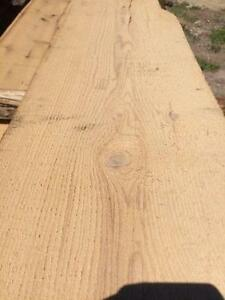 fresh sawn boards from barn beams and sleepers
