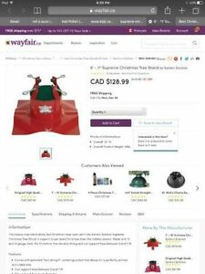 Santa's Solution Supreme metal Christmas Tree Stand Cambridge Kitchener Area image 5