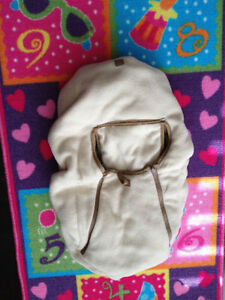 Beige/Brown Reversible Infant Car Seat Cover London Ontario image 3