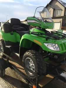 2008 arctic cat trv 650 2 person and Trailer to haul it