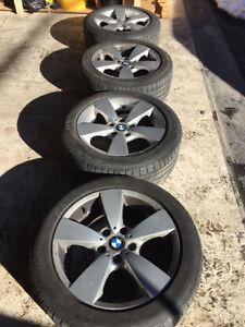 OEM BMW mag 17 pouce original & pneus continental été 225/50zr17