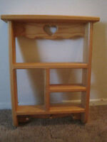 Great wood shelf just $20. In great shape.  Approximate dimensio