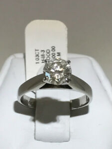 1.03CT 14K WHITE GOLD ENGAGEMENT RING BEST PRICE IN THE CITY !!!