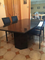 Dining Room Table-Black Granite