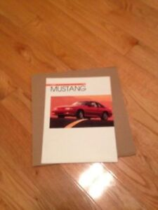Genuine Ford Sales Brochure - 1993 Ford Mustang Foxbody