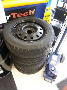 "NEW PRICE 15"" Winter Rims and Tires 195-60-15 NEWPRICE"