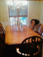 Dining Room Table&6 chairs and Custom Made Hutch & Buffet