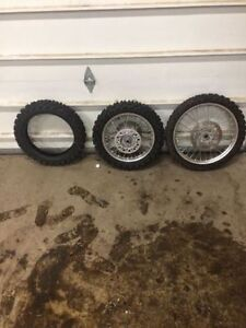 KTM 85 Small Wheel Rims and  Dunlop mx 51 90/100-16