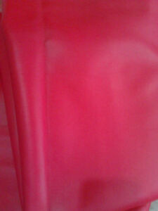 CHERRY RED Pleather Fabric