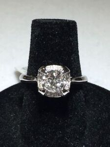 1.00TCW DIAMOND 14K WG ENGAGEMENT RING ON SPECIAL NOW