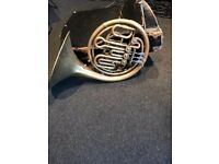 Vintage French Horn with case