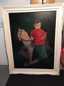 Painting Little boy and rocking horse Peterborough Peterborough Area image 3