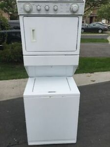 Clean Electric White Frontload dryer stackable washer