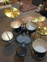 SUPRA DRUM SET, w/ Solar Cymbals by Sabian