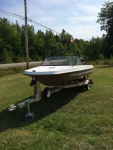 14' Sunray Style Speedboat with trailer and 85HP Mercury.