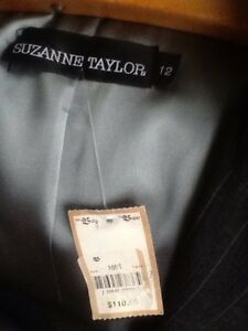Woman business suit-new with tags, dark grey, size 12-14