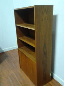 Bibliothèque En Bois Teak Solide Solid Teak Wood Bookshelf