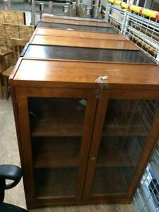 Bookcases with Glass Doors.