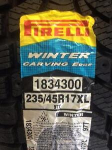 Brand New Pirelli Winter Carving Edge 235/45R17XL