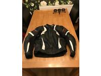 Mens Full RST Leather Race Suit and Hein Gericke Full Waterpoof Gore-tex suit