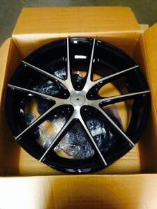 "20"" brand new gloss black/machined face 5 bolt $1090 a set !!!"