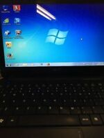 Acer Aspire 10.1 inch laptop , 250 Gb , HDMI, Win 7, wifi ready