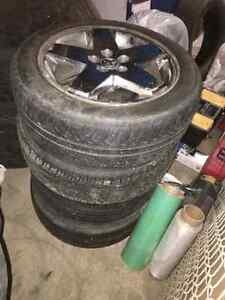 215/55/r18 tires all season 70% tread factory dodge caliber rims