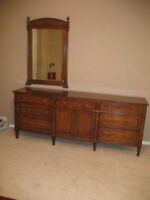 beautiful large well made dresser and mirror